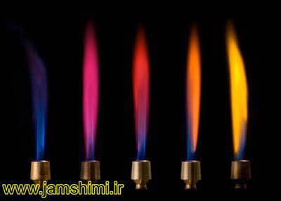 دانلود جدول رنگ شعله فلزات