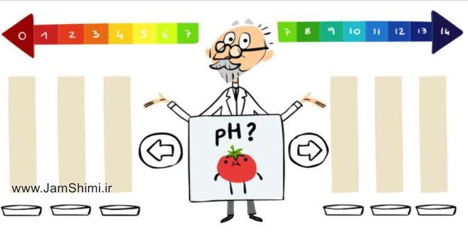 گوگل لوگوی خود را به یاد سورن سن شیمیدان ابداع کننده pH تغییر داد