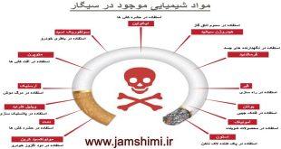 مواد شیمیایی و سمی موجود در تنباکو و دود سیگار