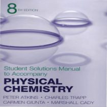 دانلود حل المسائل شیمی فیزیک اتکینز ویرایش 8 هشتم