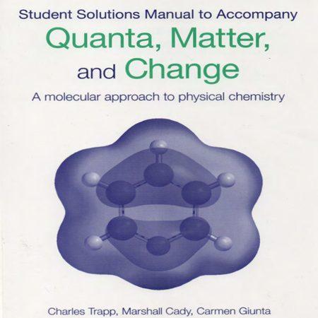 دانلود حل المسائل کتاب کوانتوم ها ، ماده و تغییرات شیمی فیزیک با نگرش مولکولی پیتر اتکینز